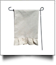 The Coral Palms® EasyStitch 2-Sided Ruffle Garden Banner Flag - JUTE-LOOK - CLOSEOUT