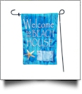 The Coral Palms® EasyStitch 2-Sided Garden Banner Flag - BEACH HOUSE - CLOSEOUT