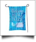 The Coral Palms� EasyStitch 2-Sided Garden Banner Flag - LAKE HOUSE - CLOSEOUT