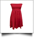 Classic Swimsuit Cover-Up Dress - CRANBERRY - CLOSEOUT