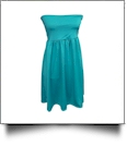 Classic Swimsuit Cover-Up Dress - TEAL - CLOSEOUT