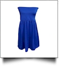 Classic Swimsuit Cover-Up Dress - ROYAL BLUE - CLOSEOUT