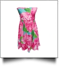 Classic Swimsuit Cover-Up Dress - ROSES - CLOSEOUT