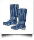 "13.5"" Women's Rain Boots - BLUE POLKA DOT - CLOSEOUT"