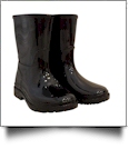 Youth Rain Boots - BLACK - CLOSEOUT