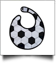 Soccer Gameday Waterproof Baby Bib with Velcro Closure