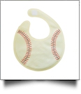 Softball Gameday Waterproof Baby Bib with Velcro Closure