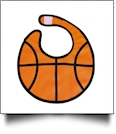Basketball Gameday Waterproof Baby Bib with Velcro Closure