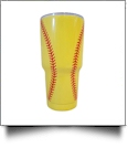 30oz Double Wall Stainless Steel Super Tumbler - SOFTBALL