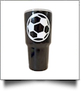 30oz Double Wall Stainless Steel Super Tumbler - SOCCER - CLOSEOUT