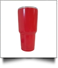 30oz Double Wall Stainless Steel Super Tumbler - STRAWBERRY RED - CLOSEOUT