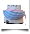 Gingham Fashion Fanny Pack - BLUE/PINK - CLOSEOUT