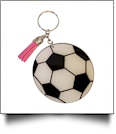 Acrylic Sports Key Chain with Tassel - SOCCER - CLOSEOUT