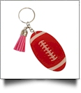 Acrylic Sports Key Chain with Tassel - FOOTBALL - CLOSEOUT