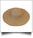 Wide Brim Floppy Hat Embroidery Blanks - LATTE