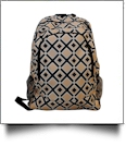 Times Square Print Backpack Embroidery Blanks - KHAKI/BLACK TRIM - CLOSEOUT