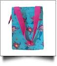 Mermaid Print Lunch Tote/Beverage Cooler Bag Embroidery Blanks - HOT PINK TRIM