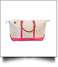 The Coral Palms Kayden Canvas Weekender Bag - PINK - CLOSEOUT