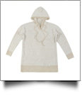 The Coral Palms® Popcorn Pullover Hoodie - CREAM - CLOSEOUT