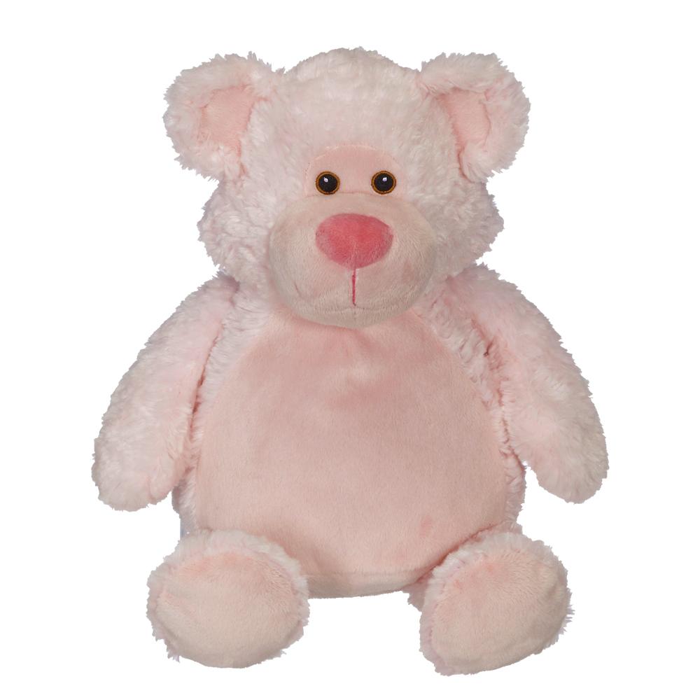 Embroidery Buddy 16 Stuffed Animal Bobby Bear Pink