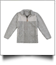The Coral Palms Frosted Sherpa Quarter-Zip Pocket Pullover - GRAY - CLOSEOUT