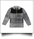 The Coral Palms Kids Frosted Sherpa Quarter-Zip Pocket Pullover - BLACK - CLOSEOUT