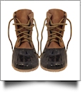 The Coral Palms® Kids Lace Up Short Duck Boots - BROWN - CLOSEOUT