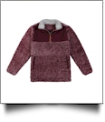 The Coral Palms Kids Frosted Sherpa Quarter-Zip Pocket Pullover - WINE - CLOSEOUT