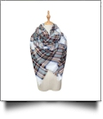 Designer-Style Oversized Plaid Scarf - SUNSET