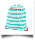 Gym Bag Drawstring Pack Embroidery Blanks - SKYLAR STRIPE - SPECIAL PURCHASE