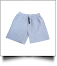 The Coral Palms™ Mens Seersucker Swimming Trunks - NAVY - CLOSEOUT