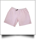 The Coral Palms™ Mens Seersucker Swimming Trunks - PINK - CLOSEOUT