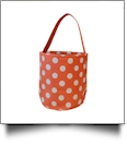 Monogrammable Easter Basket & Halloween Bucket Tote - ORANGE POLKA DOT