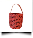 Monogrammable Easter Basket & Halloween Bucket Tote - BATS - IRREGULAR