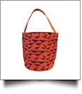 Monogrammable Halloween Bucket Tote - BATS