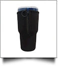 Insulated Zipper Tumbler Coolie - Fits Most 30oz Tumblers - BLACK