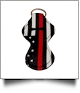 Red Line Firefighter Print Neoprene Chapstick Holder