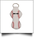 Baseball Print Neoprene Chapstick Holder