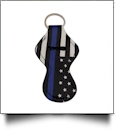 Blue Line Police Officer Print Neoprene Chapstick Holder