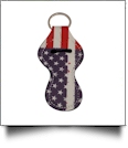 Old Glory USA Flag Print Neoprene Chapstick Holder
