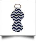Chevron Print Neoprene Chapstick Holder - NAVY