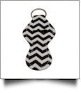 Chevron Print Neoprene Chapstick Holder - BLACK