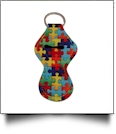 Autism Puzzle Piece Print Neoprene Chapstick Holder - CLOSEOUT