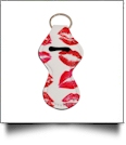 Lipstick Kiss Print Neoprene Chapstick Holder