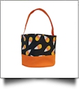 Monogrammable Halloween Bucket Tote - CANDY CORN