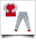 The Coral Palms Ultra-Soft Children's Raglan Santa Christmas Pajamas