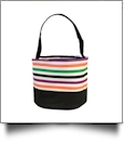 Monogrammable Easter Basket & Halloween Bucket Tote - MULTI-STRIPE