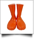 Youth Rain Boots - BRIGHT ORANGE - CLOSEOUT