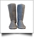 Women's Faux Suede Micro Sherpa Lining Boots - GRAY - SPECIAL PURCHASE
