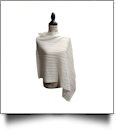 Cable Knit Button Poncho - IVORY